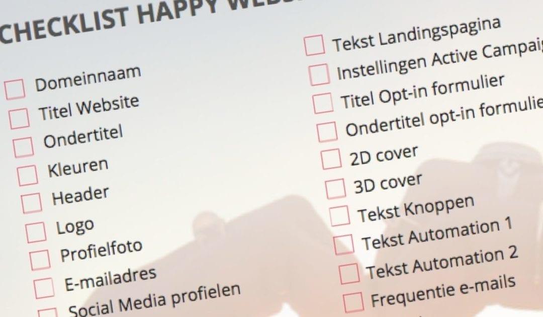 Checklist voor een Ultieme Website